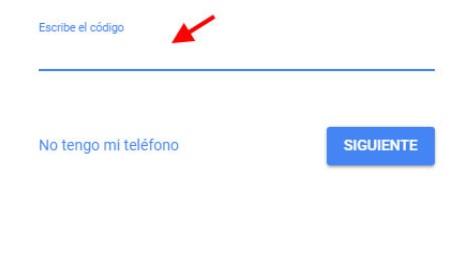 recuperar contrasena gmail sms