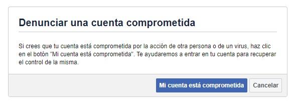 cuenta facebook hackeada