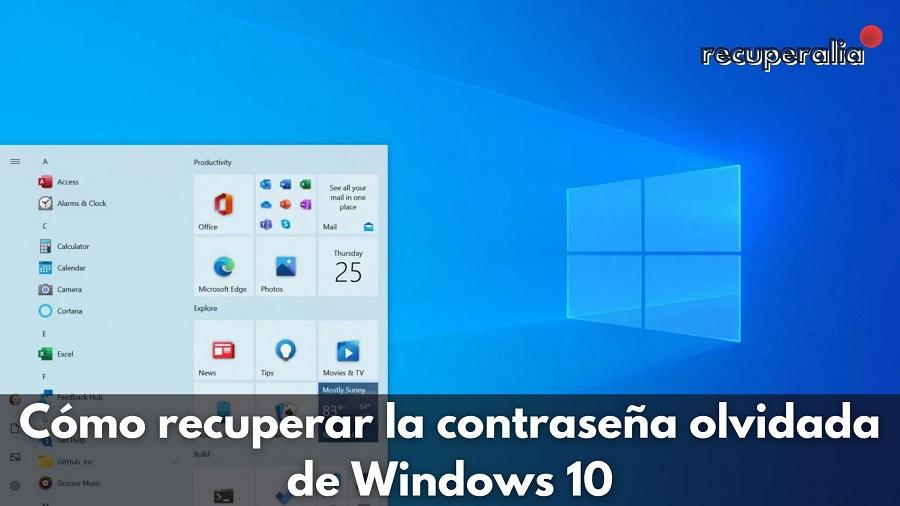 recuperar contrasena windows 10