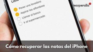 recuperar notas iphone