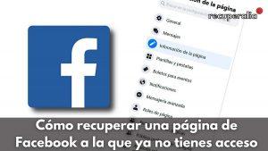 recuperar pagina facebook
